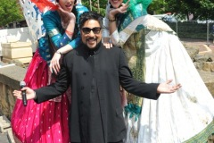 The annual Middlesbrough Mela was held in it's new home of Centre Square in the town centre on Sunday afternoon with a great mix of food, fun, dance and singing. Stilt walkers Princesses Laure (left) and Jessamin with host Bobby Friction