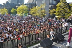 The annual Middlesbrough Mela was held in it's new home of Centre Square in the town centre on Sunday afternoon with a great mix of food, fun, dance and singing. Headliner H-Dhami performs for the crowd