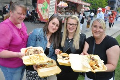 The annual Middlesbrough Mela was held in it's new home of Centre Square in the town centre on Sunday afternoon with a great mix of food, fun, dance and singing.L2R Siobhan O'Connor, Leah, Courtney and Christine Hussain enjoy some food